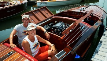 Noosa Classic Boat Regatta - Michael and Sandy on Noosa Dream