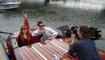 noosa dreamboats cruises with Vanessa Amorosi and Jason Dundas