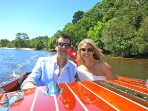 Romantic cruises on the Noosa River with Noosa Dreamboats-Nathan and Kate