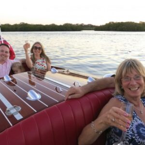 Lake Cooroibah is the perfect spot to stop for a toast on a noosa classic boat sunset cruise