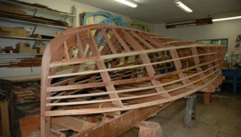 Noosa Dreamboats - construction images - frame building 2