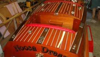 Noosa Dreamboats - construction images - freshly varnished