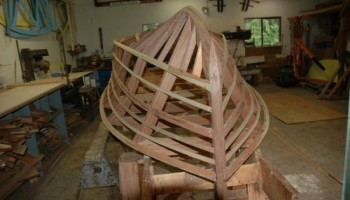 Noosa Dreamboats - construction images - frame building