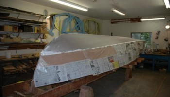 Noosa Dreamboats - construction images - bottom preparation