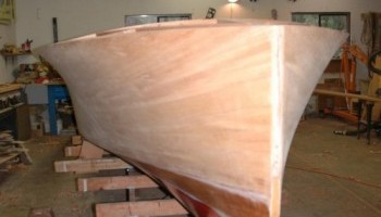 Noosa Dreamboats - construction images - ready for varnish