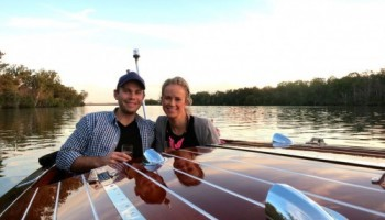 Noosa proposal cruise- classic boat