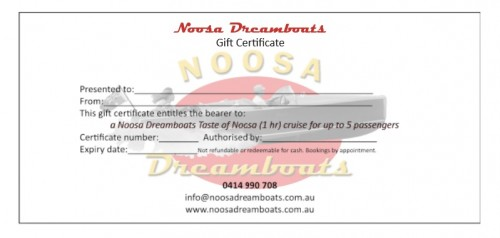 Noosa Dreamboats Gift Certificate - TON