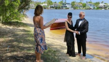 A private and romantic elopement beside the Noosa river